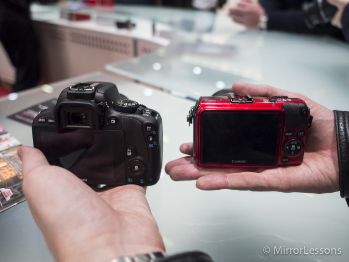 Canon EOS 100D vs EOS M - Rear