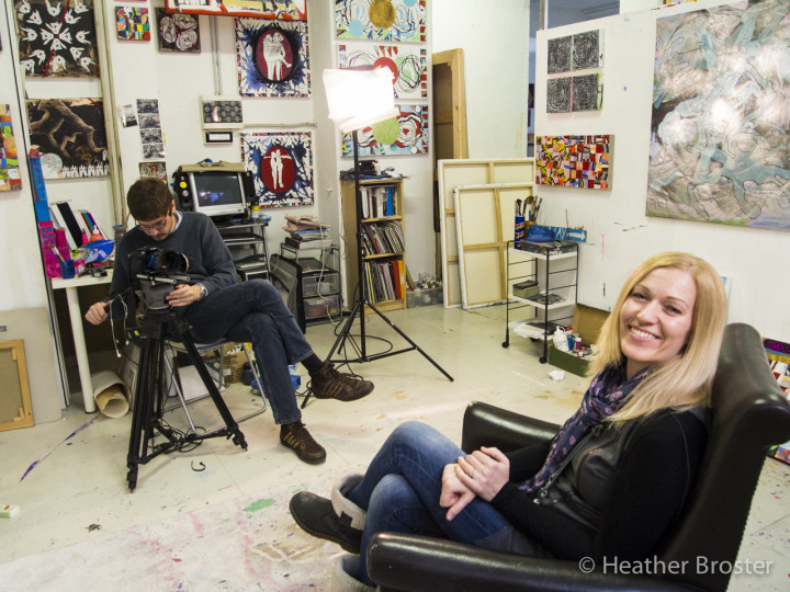 Debrah smiling at Heather before starting the interview.