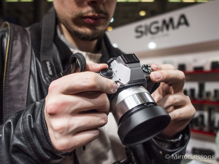 The Sigma 30mm f/2.8 DN A silver edition on my OM-D E-M5