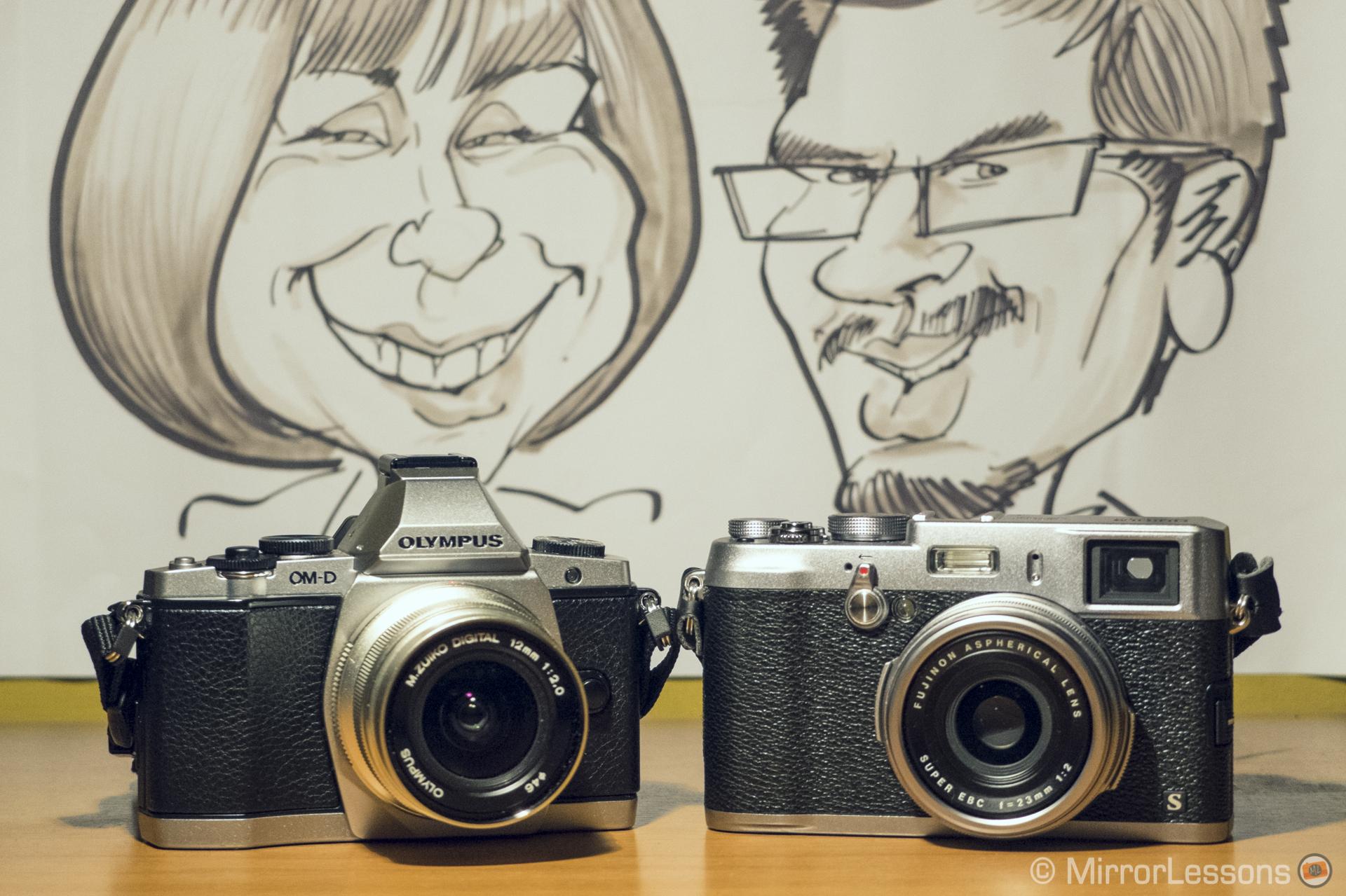 Olympus OM-D E-M5 vs Fujifilm X100s: so similar yet so