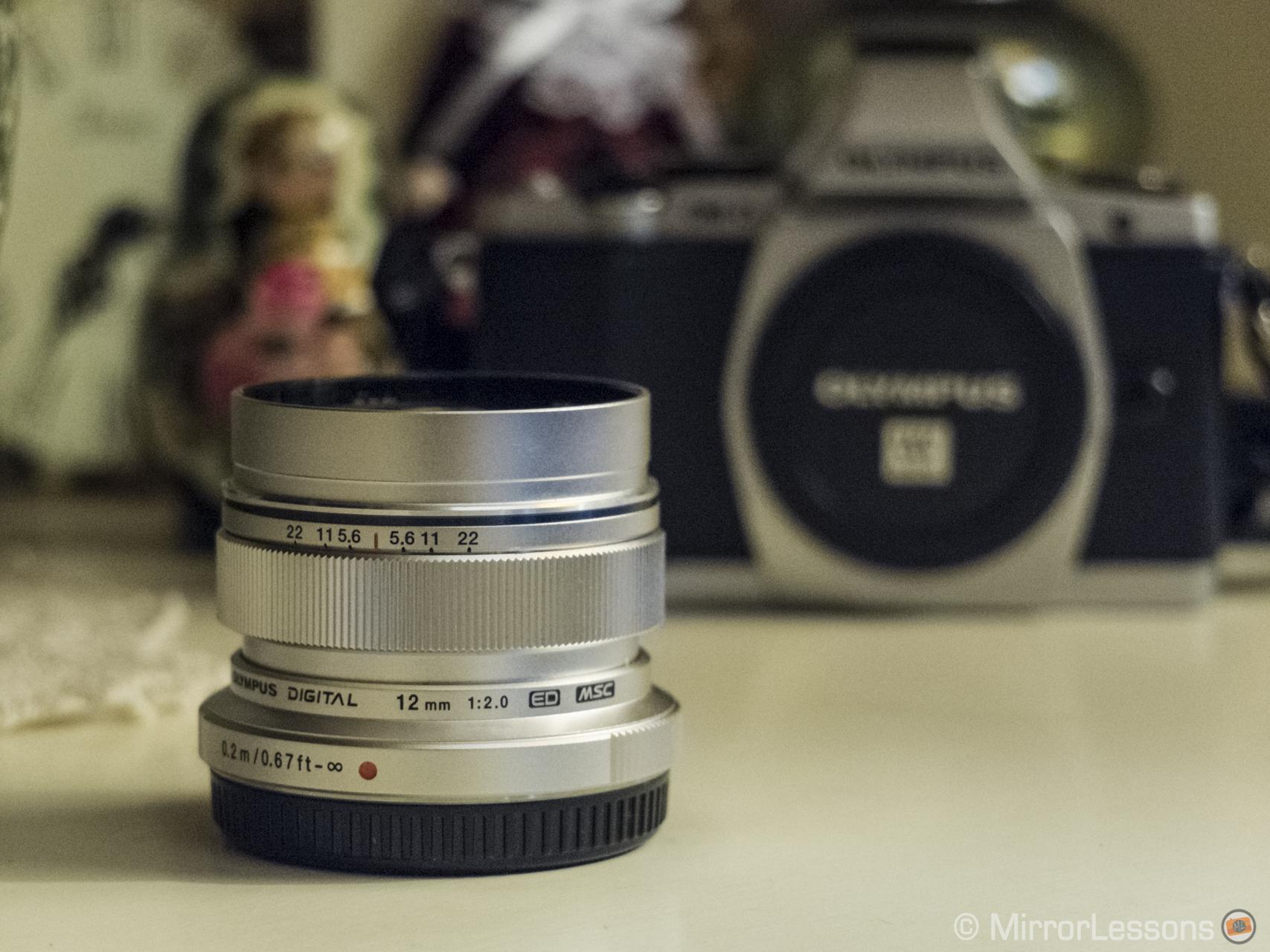 The Olympus M.Zuiko 12mm f/2 lens