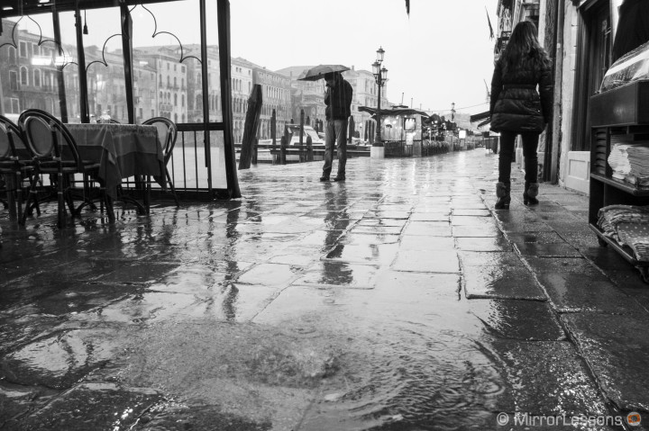'The Rain It Raineth Everyday' in Venice: A Black and White Fuji x20 Gallery