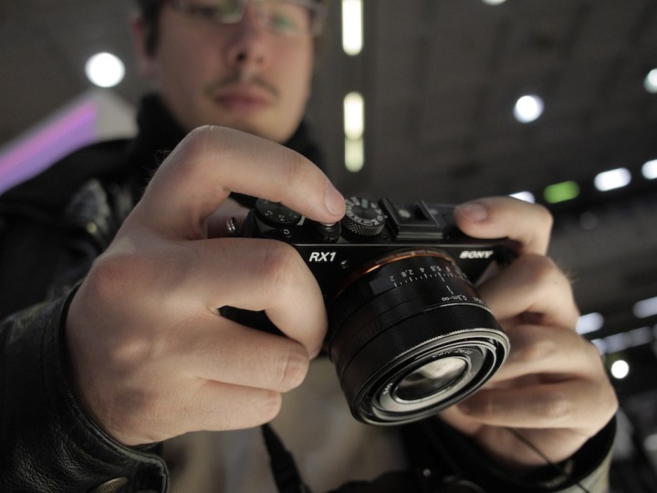 Mat with the Sony RX1 at the Milan PhotoShow 2013