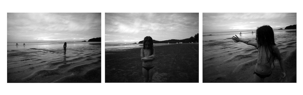 Tiziana's daughter on the beach in Thailand.