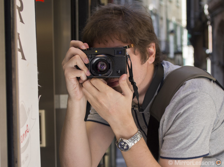 Me with the X-Pro 1, a very minimalistic camera.