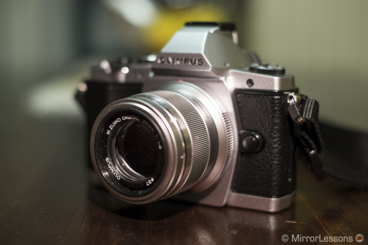 The 45mm f/1.8 mounted on the OM-D E-M5