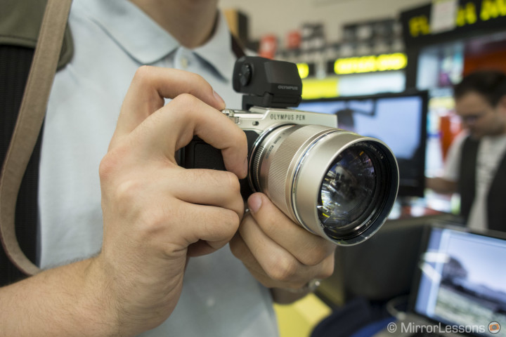 The 75mm f/1.8 mounted on the new Olympus Pen E-P5