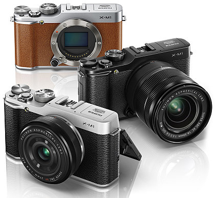 The X-M1 comes in three colours: black, silver and tan!