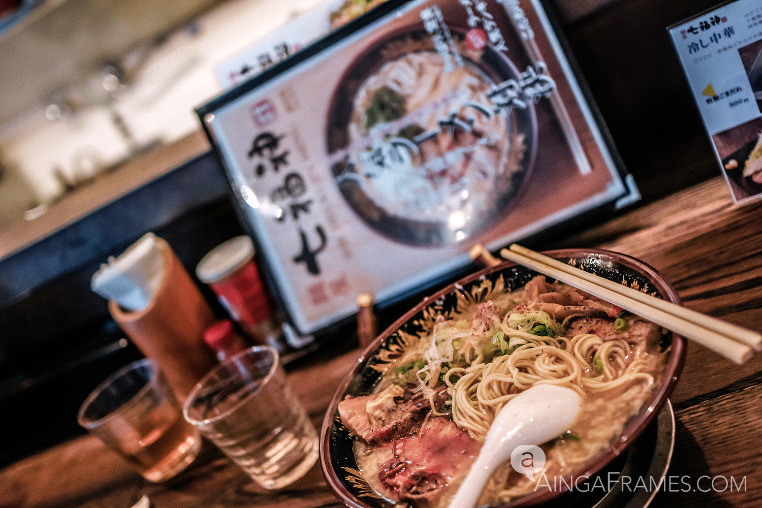 Ramen is one of Japan's favorite noodle dish. My favorite has to be Tonkotsu — served in a creamy, pork based stock.