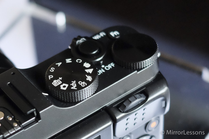 The top dials on the X-M1