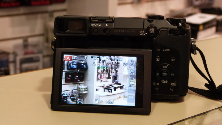 The GX7's LCD screen