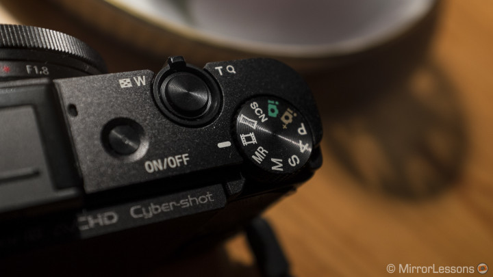 The RX100M2 mode dial