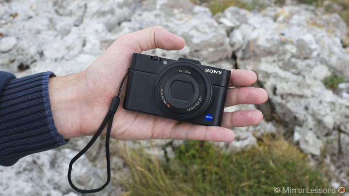 The RX100M2 is very small. The size is practically identical to the original RX100.