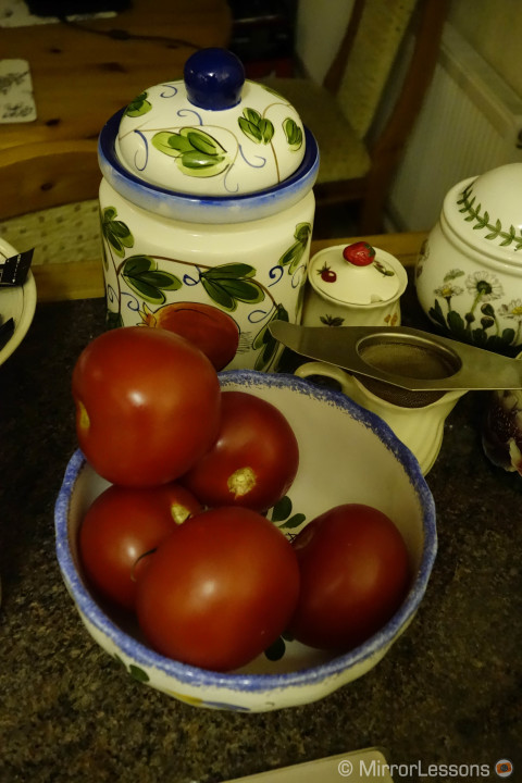 TomatoesDSC-RX100M2, 1/80, f/ 4, ISO 6400 - On Camera JPG