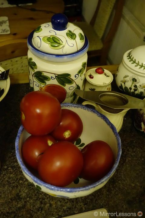 TomatoesDSC-RX100M2, 1/80, f/ 4, ISO 6400 - On Camera JPG