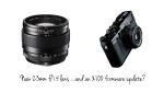 Fuji News Round-up: XF 23mm f/1.4 lens announcement & X100 firmware update