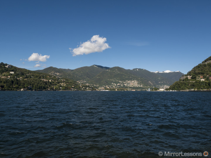 A view of the lake from Como. DMC-GX7, 1/640, f/ 8, ISO 200