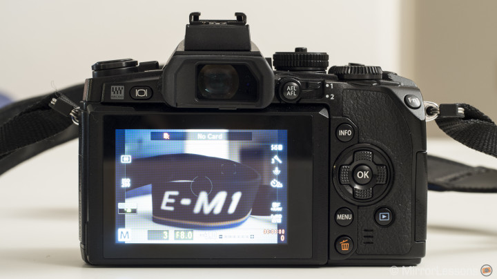 Olympus OM-D E-M1 rear