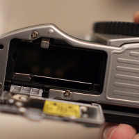 You can also see that the SD card slot is now located at the bottom next to the battery instead of sitting on the right side of the camera body.