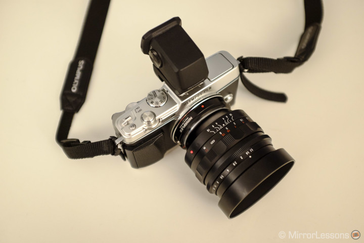The Olympus Pen E-P5 with the Nokton 50mm f/1.1