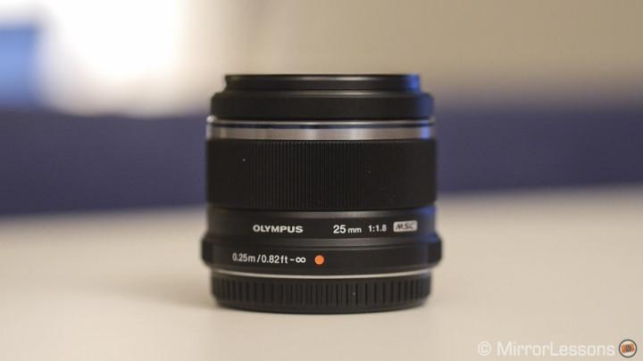 The 25mm f/1.8 black version