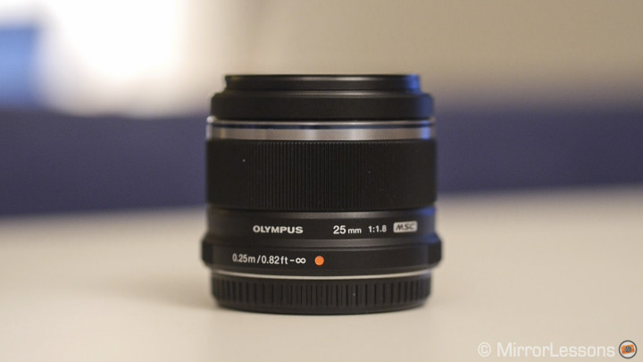 The 25mm f/1.8 black version