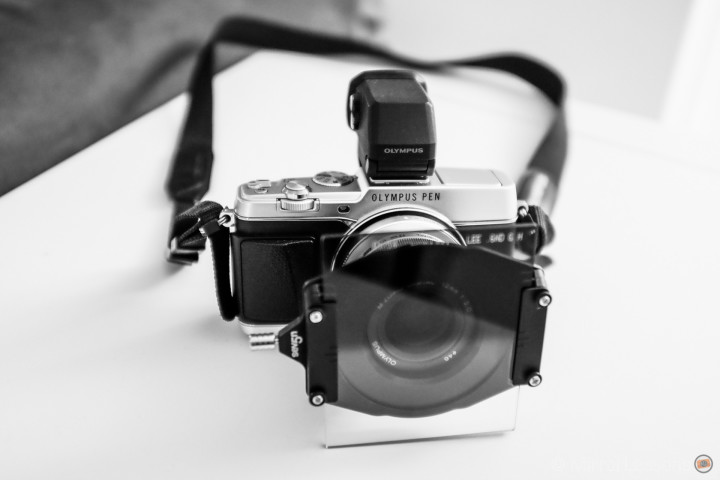 The LEE Filters Starter Kit in its full glory on the Pen E-P5