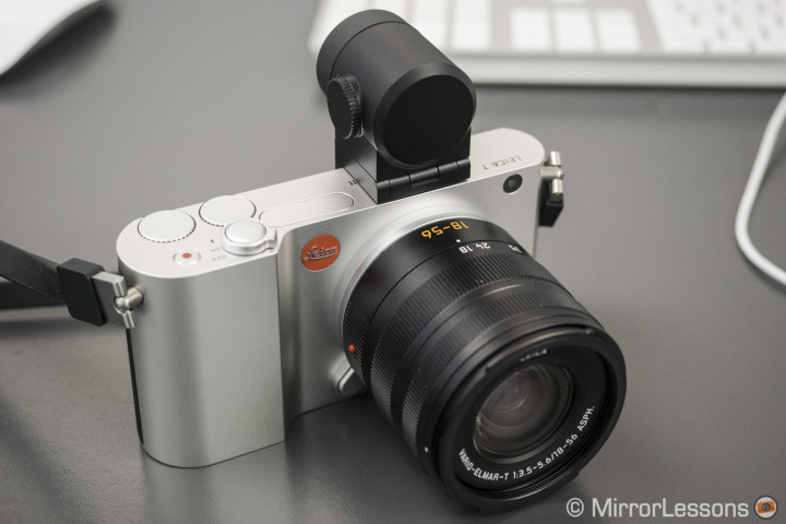 The Leica T with external EVF Visioflex and 18-56mm