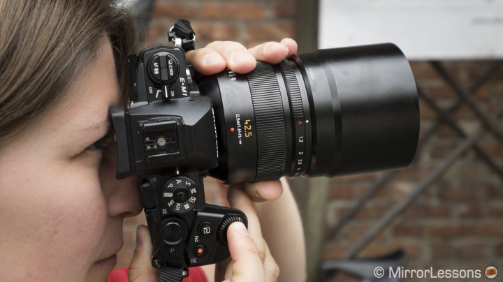 Heather, the E-M1 and the Nocticron.