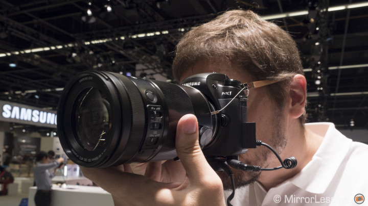 samsung nx1 at photokina 2014