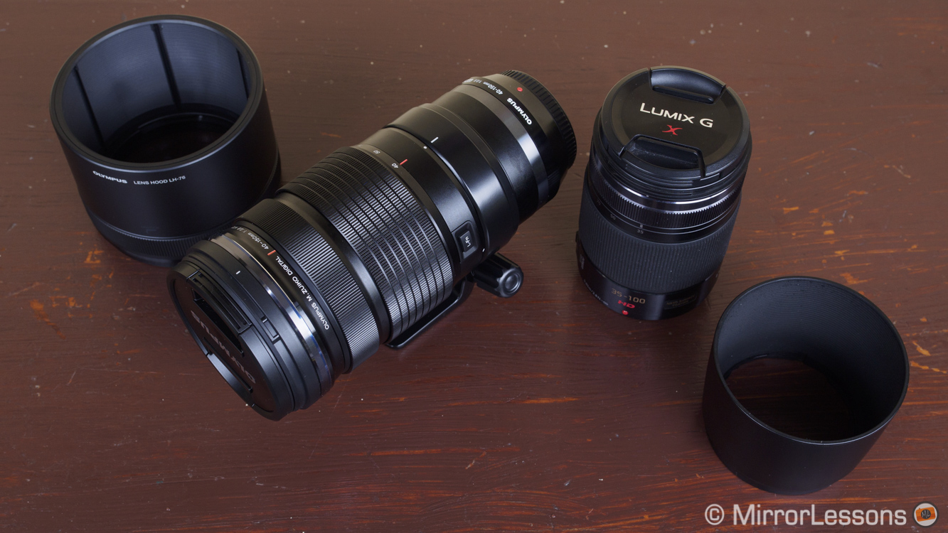m.zuiko 40-150mm vs lumix 35-100mm