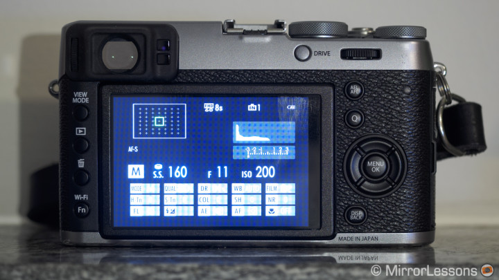 fujifilm x100t lcd screen