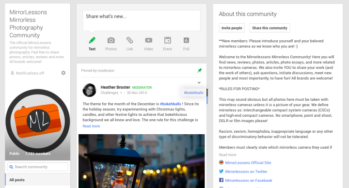 mirrorlessons google+ community