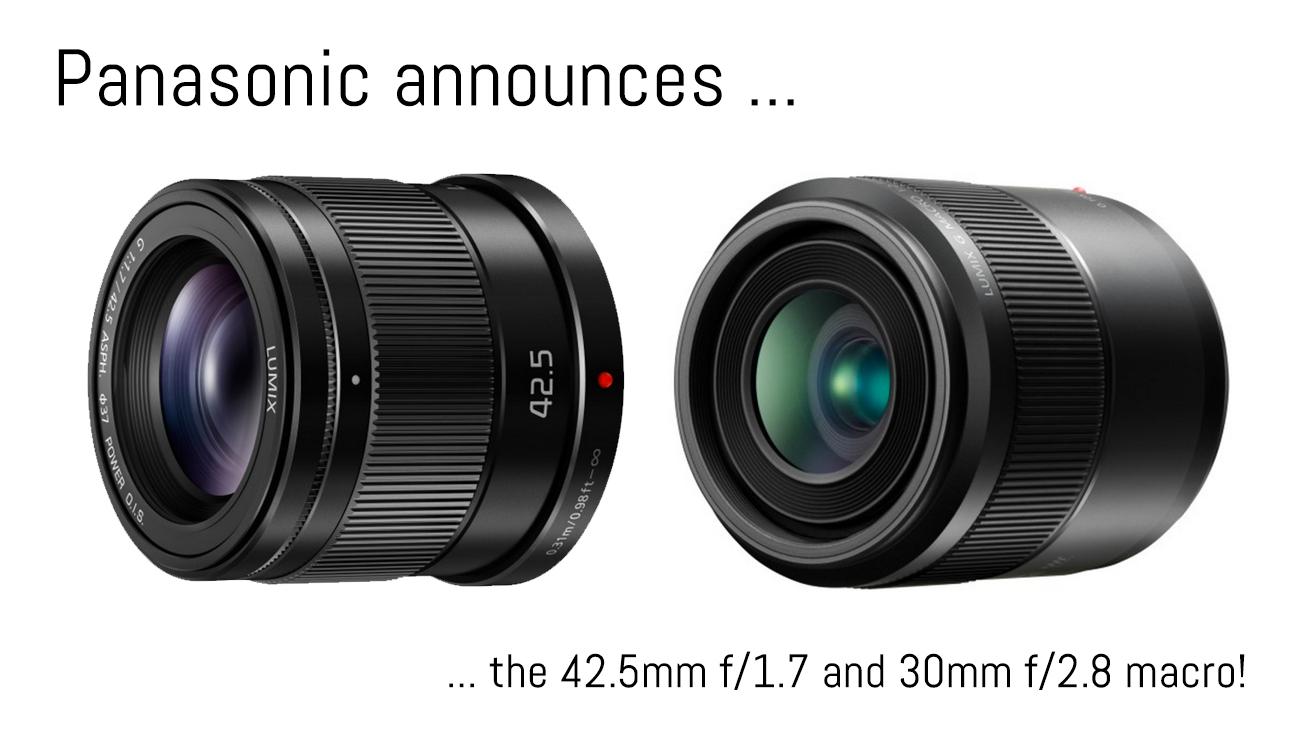 panasonic 42.5mm f/1.7 and 30mm f/2.8 macro