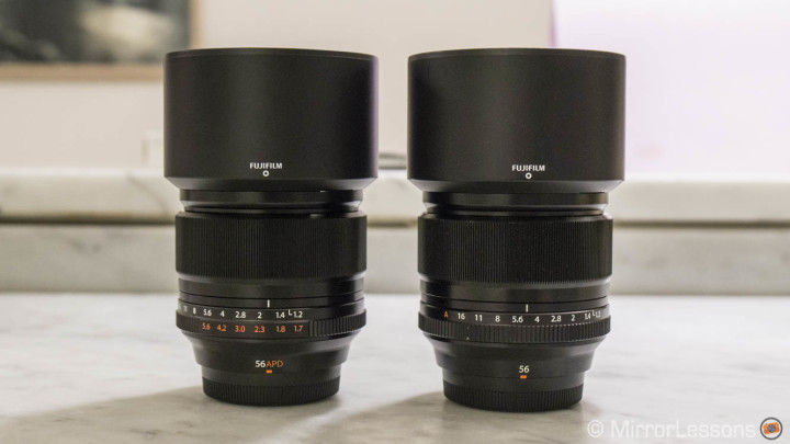 Fujifilm 56mm vs. 56mm APD