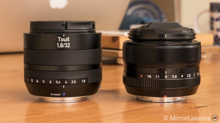 zeiss touit 32mm vs fujifilm 35mm