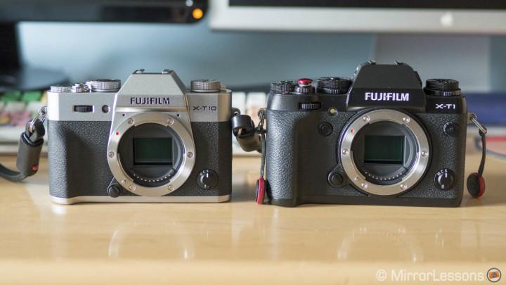 fujifilm x-t10 vs x-t1