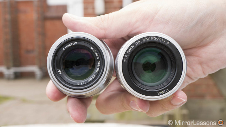 panasonic 42.5mm 1.7 vs Olympus 45mm 1.8