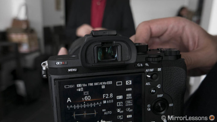 sony a7r mark ii viewfinder