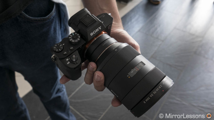 sony a7r mark ii with alpha lenses