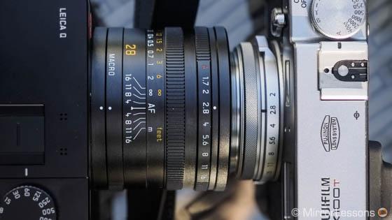 Leica Q vs Fuji X100T