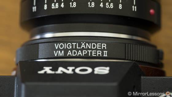 a7r ii Voigtländer lens