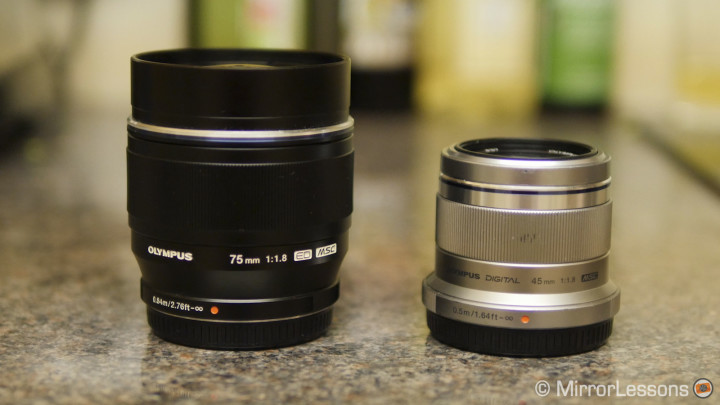 Moved: Olympus 45mm f/1.8 vs. 75mm f/1.8