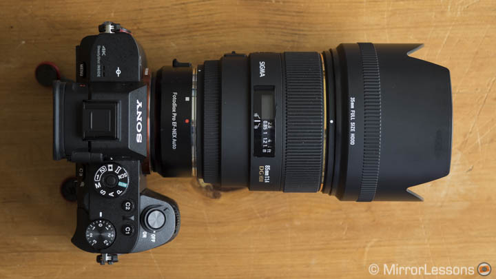 sigma lenses for a7r ii