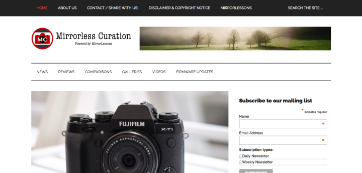 mirrorless curation