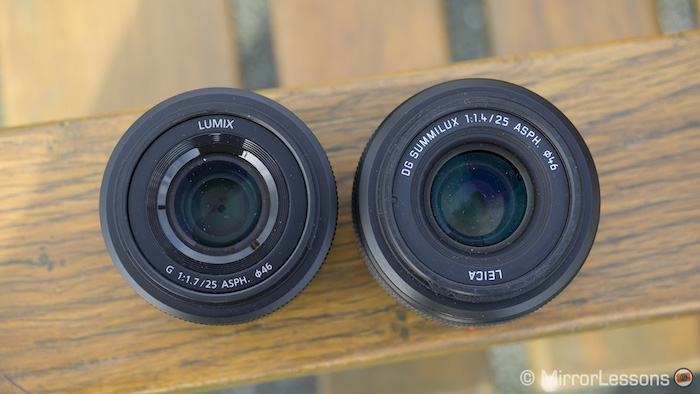 Lumix 25mm f/1.7 vs Leica 25mm f/1.4
