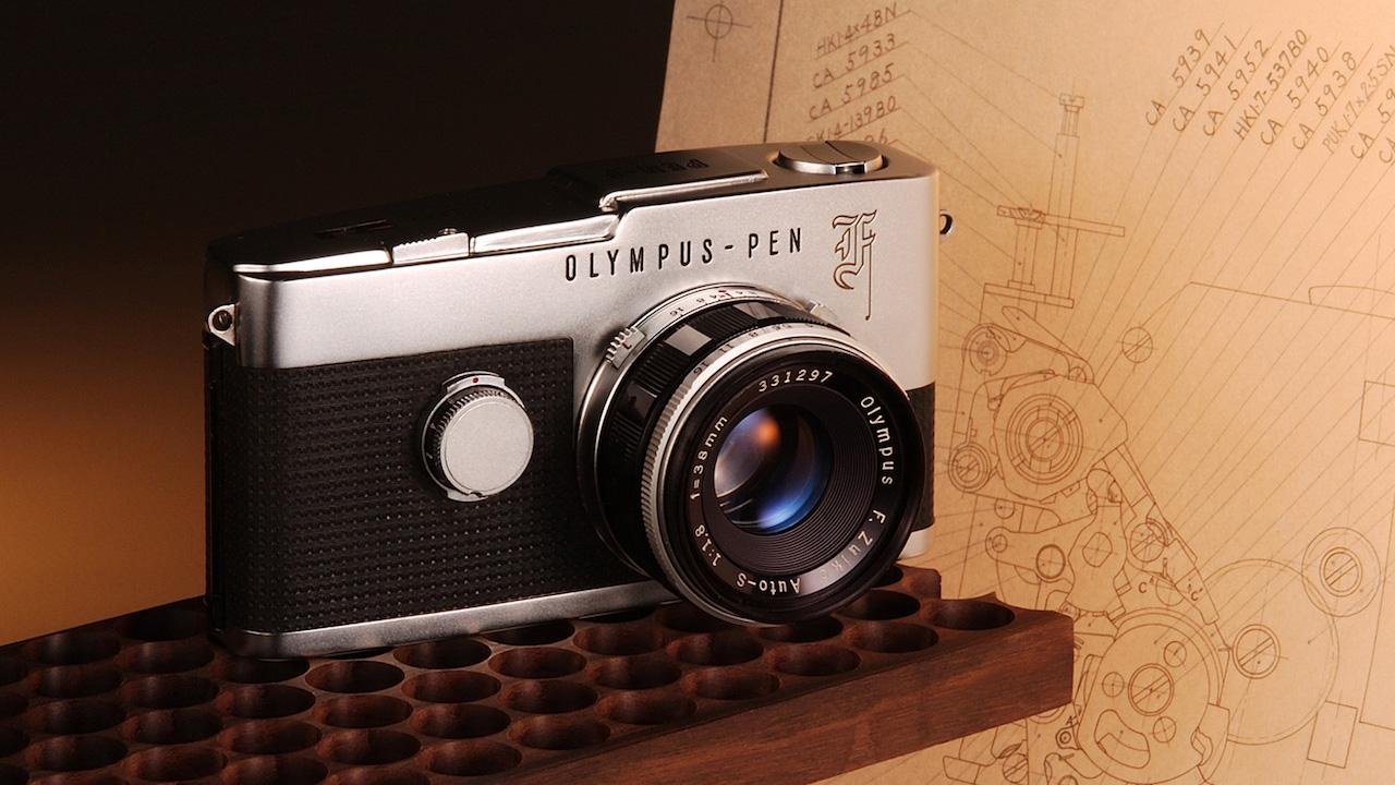 olympus pen f film camera