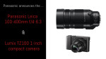 Panasonic announces the Leica 100-400mm f/4-6.3 & Lumix TZ100