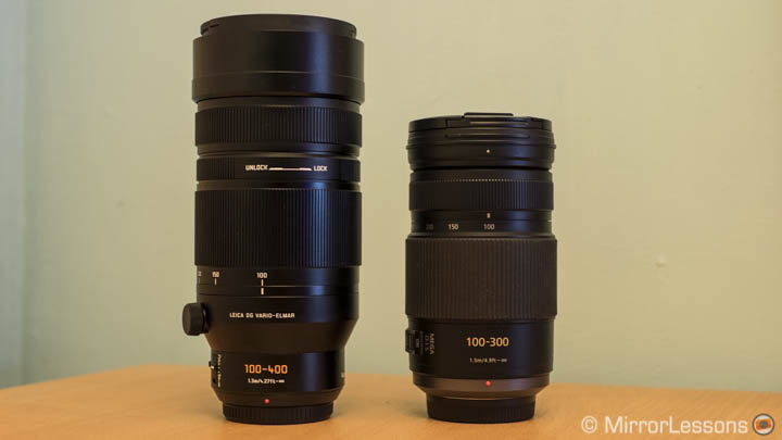 Panasonic 100-400mm vs 100-300mm