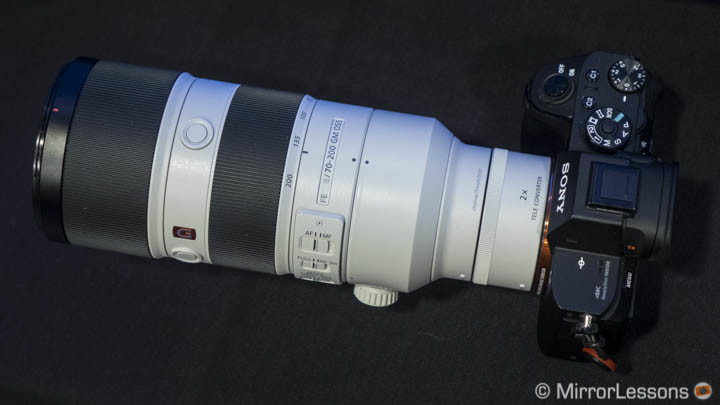 The FE 70-200mm f/2.8 ventures into DSLR territory